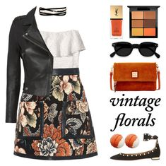 """smell the roses ♡ vintage florals"" by seacloud ❤ liked on Polyvore featuring Hollister Co., STELLA McCARTNEY, IRO, Kenneth Jay Lane, Aquazzura, Dooney & Bourke, MAC Cosmetics, Yves Saint Laurent and vintage"