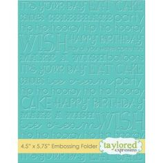 Our exclusive collection of embossing patterns give you a beautiful, deep impression every time to add incredible dimension and texture to your projects without adding bulk. Our folders work in nearly every embossing machine including the Cuttlebug, Big Shot, Vagabond, and Grand Calibur.