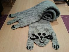 Super Cute Grey Cat Scarf by RieshiePeaches on Etsy, £20.00