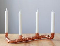 DIY Copper candle holder