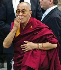 HHDL blowing a kiss:)                                                                                                                                                                                 More