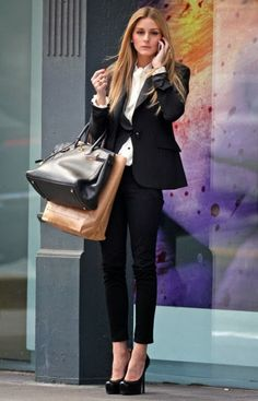 Olivia Palermo interview outfit inspiration