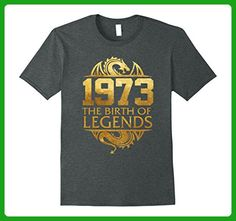 Mens Legends Born In 1973 Birthday Gift For 44 Years Old  3XL Dark Heather - Birthday shirts (*Amazon Partner-Link)
