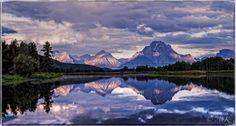 Oxbow Bend, Grand Teton National Park, Wyoming. E... ;  Artist: Anatoli Krasko; Art Form: Photography ; Style: Fine Art ; Media: Mixed ; Genre: Landscape