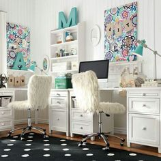 19 comfy study nook for two with white desks and open shelving digsdigs kinderschreibtisch ideen