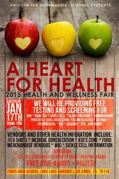 Health Fair Flyer Template   Health fair and Flyer template