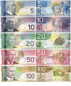 This is the page of currency images that lists the information of major currencies including currency names, codes and flags. You can click the 'currency name' to view corresponding currency images. Canadian Coins, Canadian Dollar, Canadian History, Dollar Coin, Printable Play Money, Money Tattoo, Money Notes, Coins Worth Money, Warriors