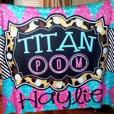 PERSONALIZED DANCE POM FLEECE BLANKET by REBEL AND SASS