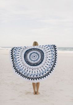 Boho beach style.