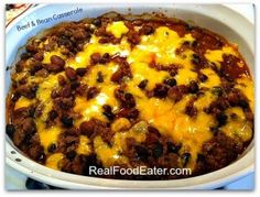 Real Food Eater - http://realfoodeater.com/beef-and-bean-casserole/
