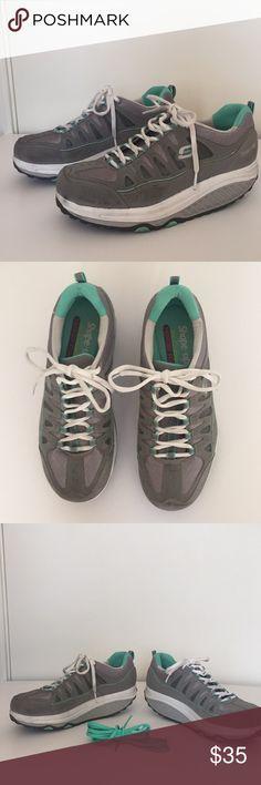 1366a48b9698 Skechers Shape-Ups Grey Air-Cooled Memory Foam Skechers shape-ups grey