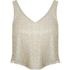 Miss Selfridge Petites Gold Sparkle Cami Top (810 UAH) ❤ liked on Polyvore featuring tops, gold color, petite, petite tops, cami tank tops, white singlet, sparkly tank top and camisole tops