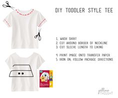 Toddler Girl Style Tee Tutorial