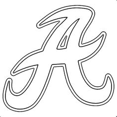 alabama a template alabama football a text outline coloring page alabama football logo
