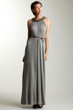 ADAM Beaded Neck Maxi Dress on HauteLook