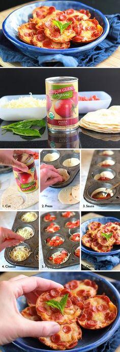 Mini pizzas crujientes de pepperoni / http://www.tablespoon.com/the-bloggers/cheekykitchen