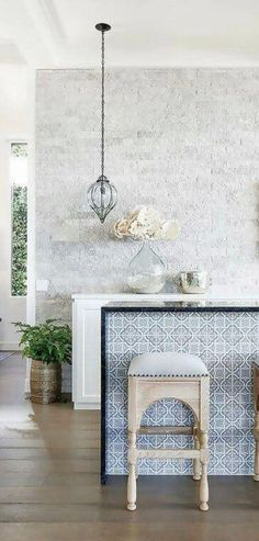 60 Mesmerizing Modern Moroccan Interiors - Loombrand - Beach House kitchen with a Moroccan flair. Modern Moroccan Decor, Moroccan Kitchen, Morrocan Decor, Moroccan Interiors, Moroccan Design, Moroccan Style, Modern Decor, Moroccan Bedroom, Moroccan Lanterns