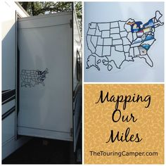 Showcase the places you and your camper have traveled: Get a camper sticker map!