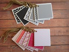 Mini cards, Blank handmade mini gift card tags, set of 6 mini cards, any occasion tag set, mini note cards by PinkyPromiseBargains on Etsy