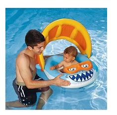 The BEST Inflatable Baby Float with Sun Shade Canopy! This Infant Swimming Pool Ring is  sc 1 st  Pinterest & Buggy Infant Pool Float | Pool floats Infant and Babies