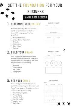 Business Planner, Business Goals, Business Tips, Etsy Business, Business Branding, Business Marketing, Facebook Marketing, Small Business Organization, Planner Organization