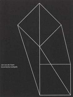 """""""Jan van der Vaart keramische multiples"""" Exhibition Catalog, Stedelijk Museum, Amsterdam., Designed by Wim Crouwel & Daphne Duijvelshoff, 1975"""