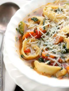 Italian Tortellini Soup A delicious easy soup filled with vegetables!