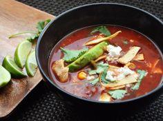 Tortilla Soup With Chicken and Avocado | Serious Eats : Recipes