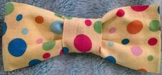 Yellow w/ Dots Bow Tie by Preppy Dog Boutique  www.PreppyDogBoutique.com  www.Facebook.com/PreppyDogBoutique