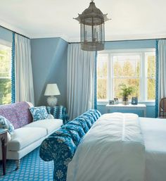 from Simplified Bee blue bedroom // designed by markham roberts #design