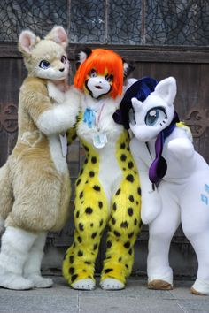 Anzu, Tirol, Rarity - by TashiroYu. Every time I see a furry at a con I have to hug them. :/