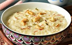Delicious Indian rice pudding - chawal kheer – The Veggie Indian