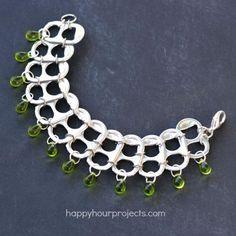 DIY Bracelet : DIY Soda Pop Tab Upcycled Bracelet