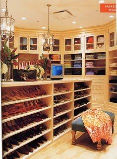 One of Oprah's closets?!!!? I would love to just have half of this closet, not suprisingly she has more than one!