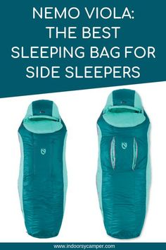 Best sleeping bag for side sleepers seeking adventure camping and backpacking in the ourdoors. Review of the spoon shaped Nemo Viola 20. #sleepingbag #nemoequipment Joshua Tree Camping, Family Camping, Tent Camping, Camping Gear, Camping Hacks, Camping Essentials, Women Camping, Camping Cooking, Camping Checklist