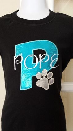 Pope panthers School Spirit Shirt Lilyloudesigns.com