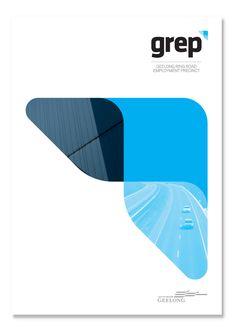 GREP Brand by Jason Stancombe, via Behance Brochure Layout, Brochure Design, Branding Design, Banner Design, Layout Design, Brainstorm, Web Design Mobile, Company Profile Design, Folder Design