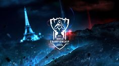 Similarly, this poster uses Eiffel Tower as part of background to represent blue inhibitor. League Of Legends Poster, World C, Riot Games, Funny Games, Finals, Darth Vader, Lol, Movie Posters, Tower