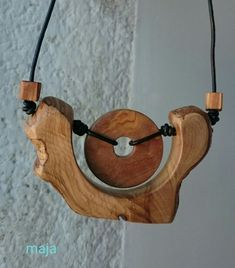 Olive wood necklace