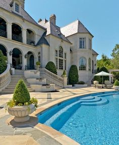 house, pool, and luxury ❥✧➳ Pinterest: miabutler