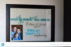 Etched Glass Dry Erase board Tutorial by Nicole Mantooth for Silhouette