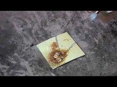 Encaustic Technique 6 Wood Glue Burn - YouTube