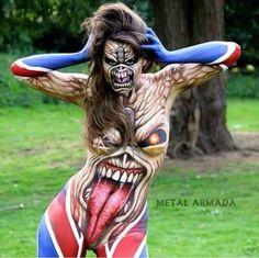 Iron Maiden body paint