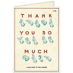 Cavallini Sign Language Thank You Card