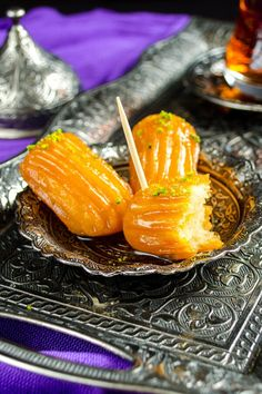 An amazing Turkish dessert tulumba. Fried dough soaked in sweet syrup. A little … - Desserts Turkish Sweets, Turkish Dessert, Delicious Desserts, Dessert Recipes, Gourmet Desserts, Plated Desserts, Beignets, Turkish Recipes, Recipes