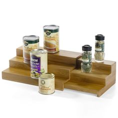 """I own this and LOVE IT.  It's expensive here but, love it and I would pay $30 if something were to ever happen to mine.  3-Tier Bamboo Expanding Shelf    Maximize limited space and easily identify spices, small cans and tins with our 3-Tier Bamboo Expanding Shelf. As beautiful as it is practical, the Shelf expands anywhere from 12"""" to 23"""" in width to custom fit your cabinet space, countertops or pantry shelves."""