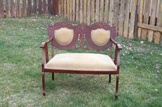 Antique Settee - Double Seat Settee - Vintage Settee - Wedding Seating - Photo Prop