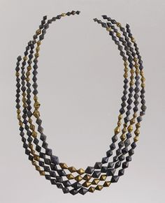 "Four strands of beads [Excavated at the ""Great Death Pit,"" Ur, Mesopotamia] (33.35.48) 