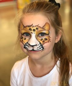 Leopard Face Paint, Lion Face Paint, Tiger Face Paints, Cheetah, Face Painting Designs, Paint Designs, Body Painting, The Face, Face And Body