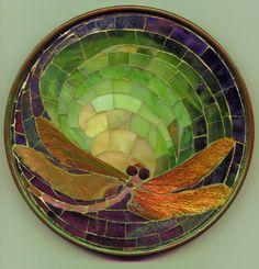 mosaics | Some Tiffany Mosaics Dragonfly trivet